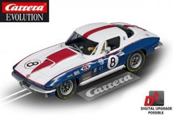 Carrera EVOLUTION Chevrolet Corvette Sting Ray 1/32 Slot Car 20027524