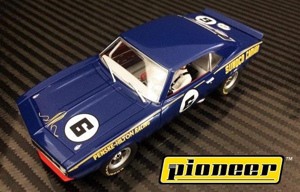 Image 1 of Pioneer 1968 Sunoco Camaro Z-28 Trans-Am Penske 1/32 Slot Car P049