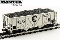 Mantua HO 36' Hopper w/ Coal B&O Chessie System
