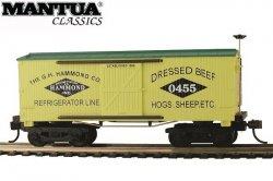 Mantua HO Wooden Vintage Freight Car 1860 Reefer Hammond Co