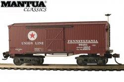 Mantua HO Wooden Vintage Freight Car 1860 Box Car PRR Union Line