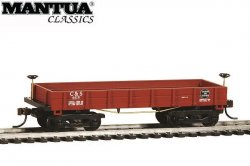 Mantua HO Wooden Vintage Freight Car 1860 Coal Gondola C&S