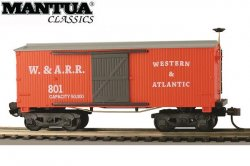 Mantua HO Wooden Vintage Freight Car 1860 Box Car W&A