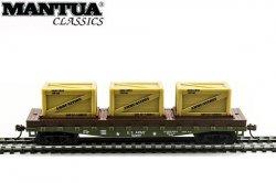 Mantua HO 40' Flat Car w/ Crates Army