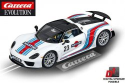 Carrera EVOLUTION Porsche 918 Spyder Martini Racing 1/32 Slot Car 20027467