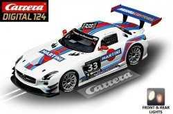 Carrera DIGITAL 124 Mercedes-Benz SLS AMG GT3 Martini 1/24 Slot Car 20023825