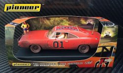 Pioneer 1969 Dodge Charger General Lee 1/32 Slot Car P017 - Dirty Version
