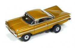 Auto World ThunderJet R18 1959 Chevy Impala HO Slot Car - Gold