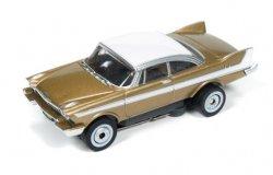 Auto World ThunderJet R18 1958 Plymouth Fury HO Slot Car - Gold