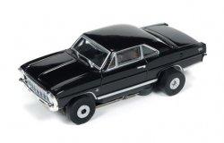 Auto World ThunderJet R18 1966 Chevy Nova SS HO Slot Car - Black