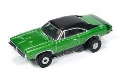 Auto World ThunderJet R18 1969 Dodge Charger HO Slot Car - Green