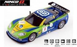 NINCO 1 N-Digital Corvette Z06 GT3 Sangari 1/32 Slot Car 55031 MINOR DAMAGE