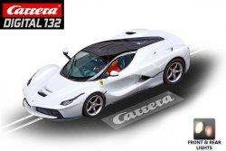 Carrera DIGITAL 132 LaFerrari White Metallic 1/32 Slot Car 20030712