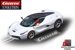 Carrera EVOLUTION LaFerrari White Metallic 1/32 Slot Car 20027478