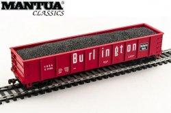 Mantua HO 40' Gondola w/ Coal Burlington