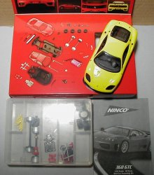 NINCO 50408 Ferrari 360 GTC Yellow 1/32 Slot Car Kit - MISSING PARTS