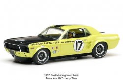 Pioneer Ford Mustang '67 Notchback Coupe Titus 1/32 Slot Car - USED