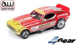Auto World 4Gear Ultra-G 1973 Ford Mustang Funny Car Brand-X