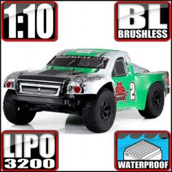 Redcat Caldera SC 10E Brushless 4WD 1/10 RC Short Course Truck RTR Green