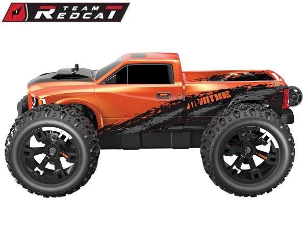 Image 4 of Team Redcat TR-MT10E 1/10 RC Monster Truck Pearl Orange