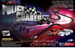 AFX Police Chaser Slot Car Set