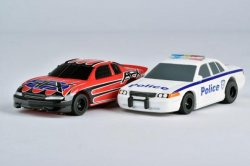 '.AFX Police Chaser HO Slot Cars.'