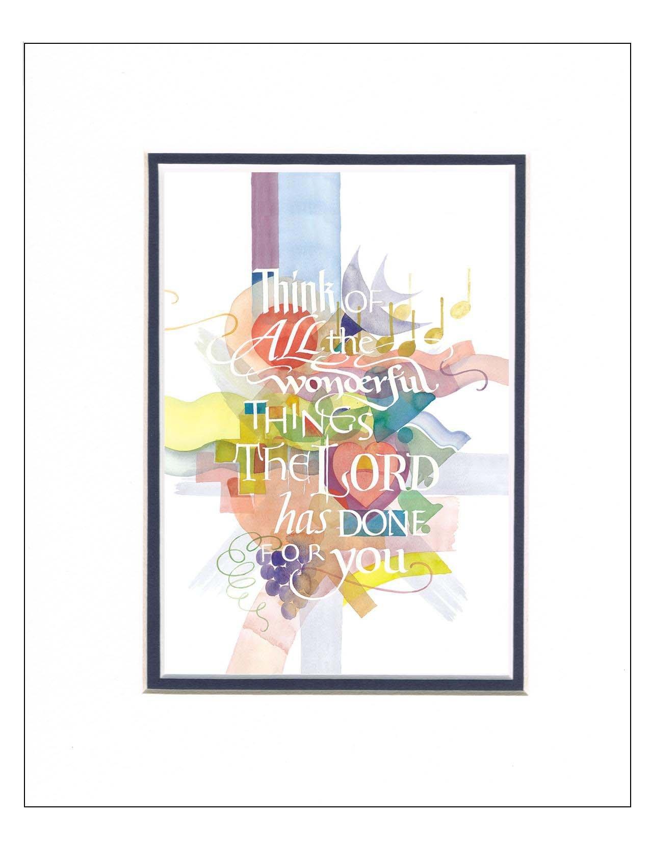 Tim Botts Calligraphy Fine Art Prints Framed Amp Matted