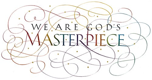 Calligraphy of Ephesians 2:10 by Tim Botts