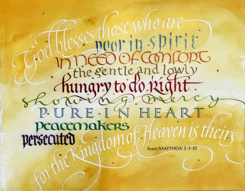 Image 0 of Matthew  5:3-10 - The Beatitudes #378
