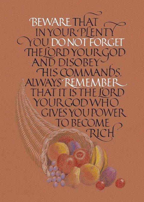 Image 0 of Deuteronomy  8:11,12 #817