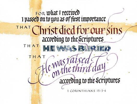 Corinthians 1 15 3 4 1201