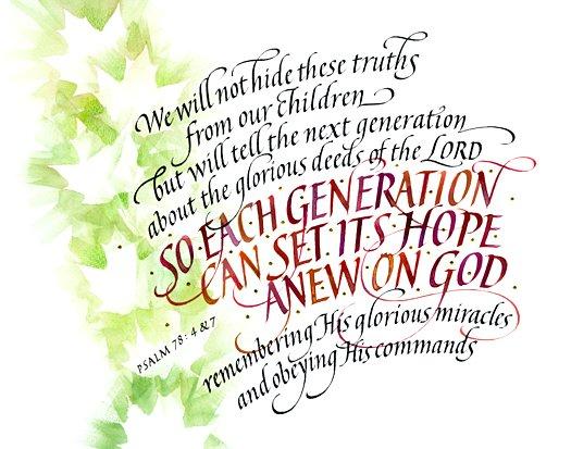 Psalm 78 4 Amp 7 1216