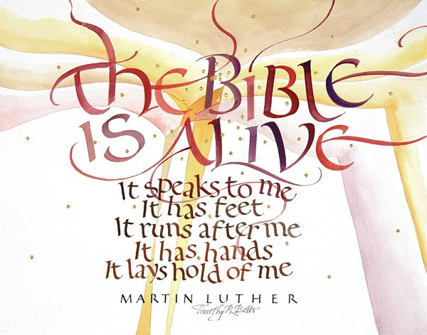 Quote by Marin Luther - Calligraphy by Tim Botts