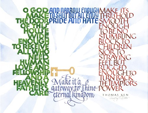 Prayer by Bishop Thomas Ken - Calligraphy by Timothy R. Botts