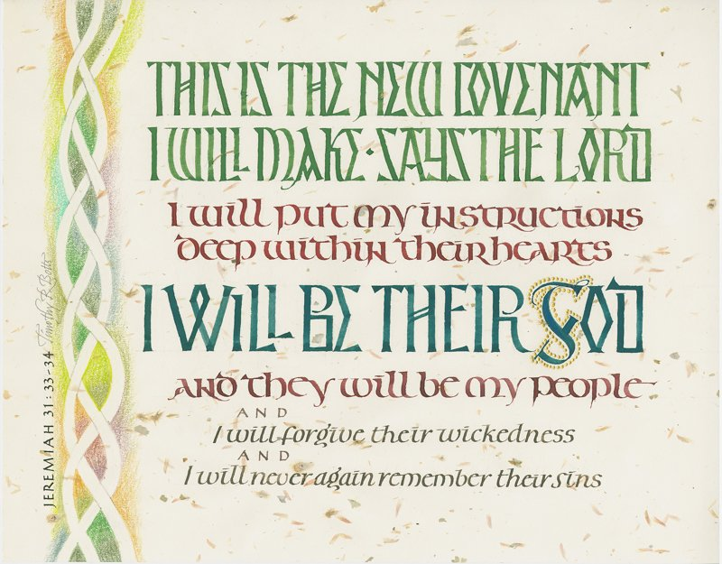 Calligraphy by Timothy R. Botts<br>