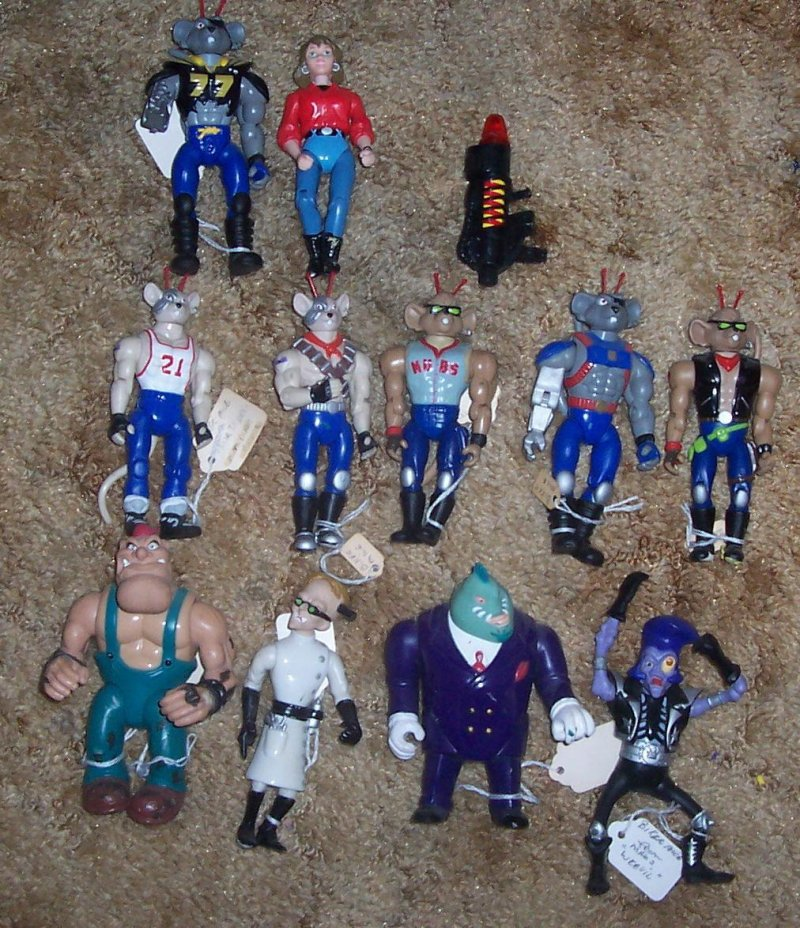 Image 0 of 1993 Galoob Biker Mice From Mars 11 Action Figure collection
