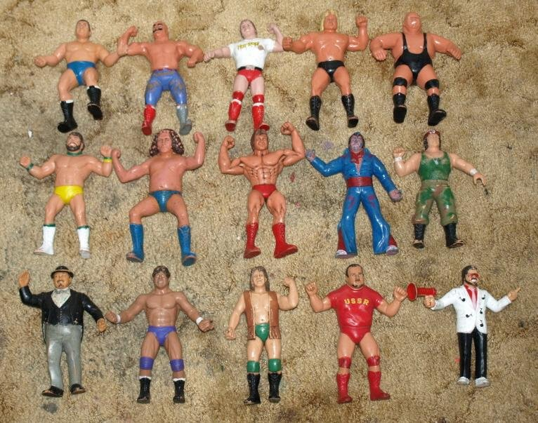 Image 0 of WWF LJN HUGE collection of 43 different figures Vintage 80's