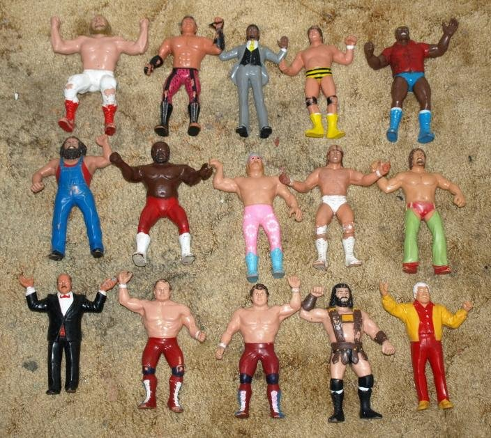 Image 1 of WWF LJN HUGE collection of 43 different figures Vintage 80's