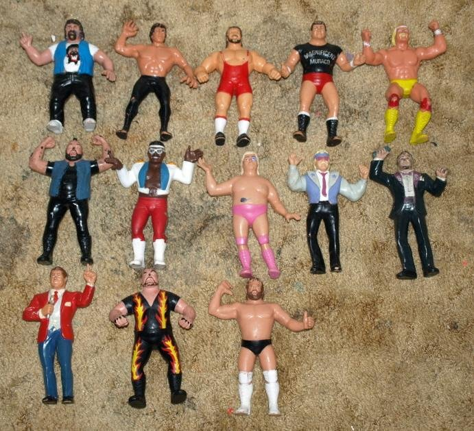 Image 2 of WWF LJN HUGE collection of 43 different figures Vintage 80's