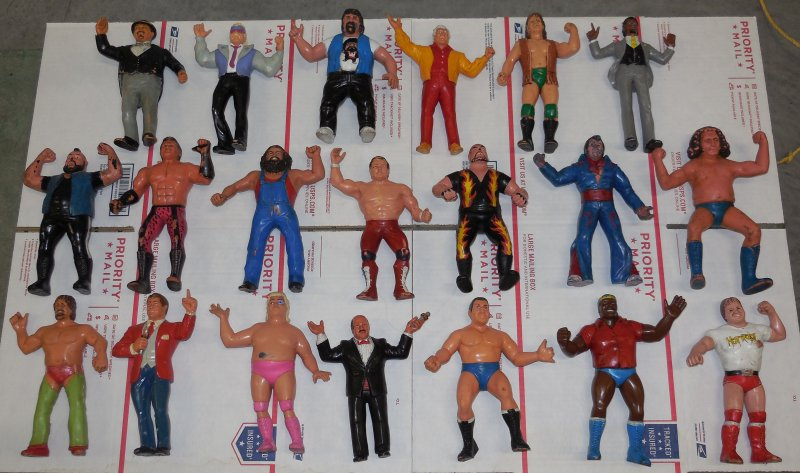 Image 0 of WWF LJN HUGE collection of 40 different figures Vintage 80's