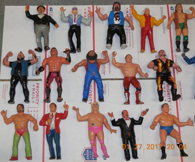 Image 1 of WWF LJN HUGE collection of 40 different figures Vintage 80's
