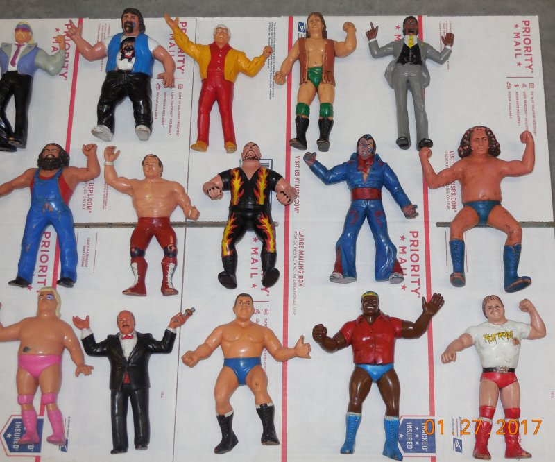 Image 2 of WWF LJN HUGE collection of 40 different figures Vintage 80's