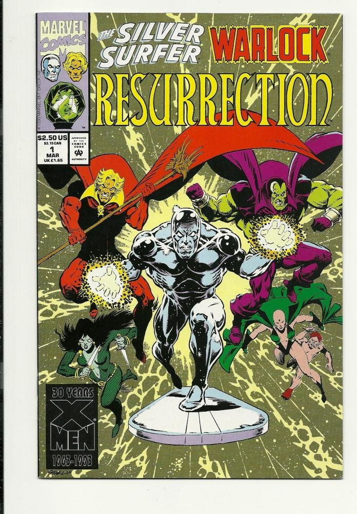 Image 0 of Marvel Comics Silver Surfer Warlock Resurrection #1 March 1993