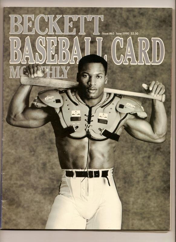 Image 0 of beckett baseball Card Monthly price Guide June 1990 issue  #63 Bo Jackson