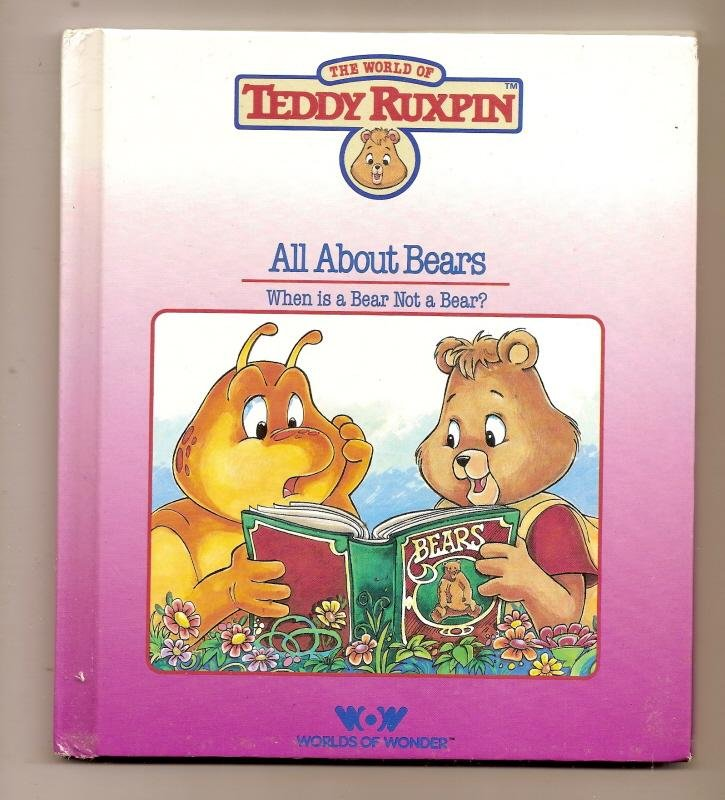 Image 0 of Teddy Ruxpin All About bears Book WOW