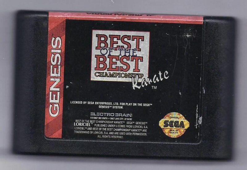 Image 0 of Sega Genesis Best of the Best: Championship Karate vintage game Cart VERY RARE