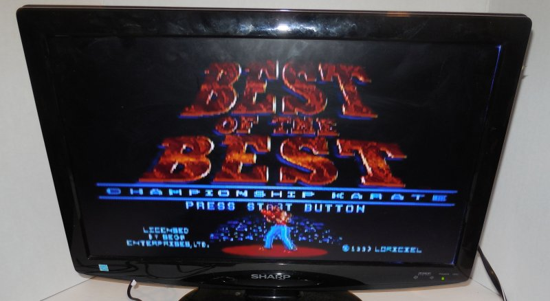 Image 1 of Sega Genesis Best of the Best: Championship Karate vintage game Cart VERY RARE