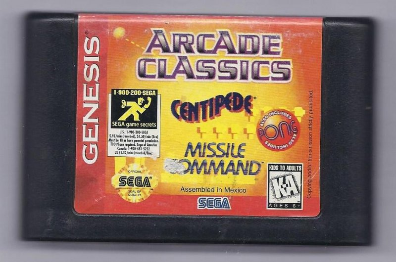 Image 0 of Sega Genesis Arcade Classics vintage game Cart