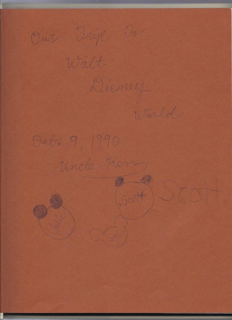 Image 2 of 1989 Walt Disney World Pictorial Sovuiner Hardback book OOP