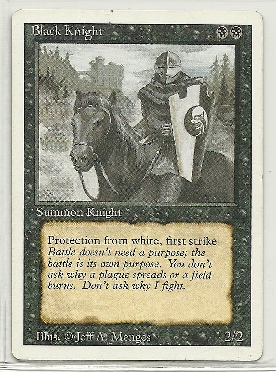Image 0 of MTG Magic The Gathering 3rd Edition Black Knight Card Uncommon